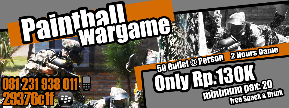 paintball, paket paintball, permainan outbound
