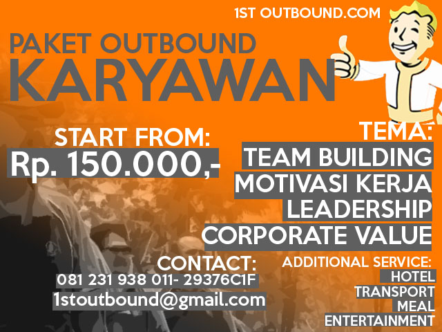 paket outbound, outbound untuk karyawan, pelatihan outbound, outbound jawa timur