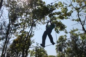 Instalasi High Rope di Kaliandra Eco Resort
