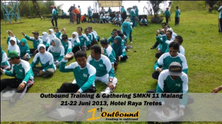 outbound untuk karyawan, outbound di trawas, outbound malang