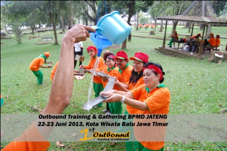 permainan outbound team work, provider outbound, tempat outbound di batu